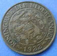 Nederland - The Netherlands 1 cent 1922 KM# 152