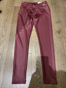 Nwt Justice Burdundy Solid  Trendy Leggings Size 14/16