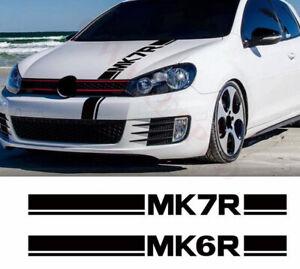 Hood Bonnet Sticker Vinyl Decal For-Volkswagen Golf POLO MK6R MK7R Choice One