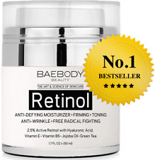 Baebody Retinol Moisturizer Cream for Face and Eye Area With 2.5% Active.