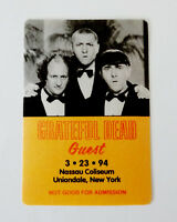 Grateful Dead Backstage Pass The Three Stooges 3 LMC Nassau NY 3/23/94 3/23/1994