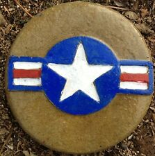 Air Force Old 8 plaque, stepping stone,  plastic mold, concrete mold, cement
