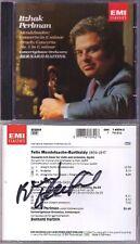 Itzhak PERLMAN: MENDELSSOHN & BRUCH Concerto Bernard HAITINK Signed CD Violin