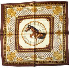 """CHIC: Seidentuch NICKITUCH """"Springpferd"""" Tuch SEIDE Halstuch PFERD; 53x53 cm"""