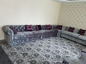 Living Room Crushed Velvet Sofas Armchairs Suites For Sale Ebay