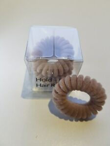 Hold It Hair Rings Cream Velvet Spiral Hair Bands Stretchy Bobbles Hair Band