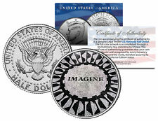 JOHN LENNON Strawberry Fields Iconic IMAGINE Mosaic JFK Half Dollar US Coin