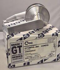 "PDQ Commercial Lockset GT-126 PHL PASSAGE 2 3/4"" BACKSET ASA STRIKE SCHLAGE"