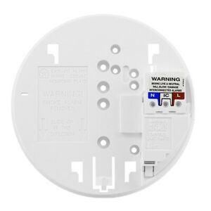 Replacement Mounting Base for Aico Ei 141 / 144 / 146 / 2110 Smoke & Heat Alarms