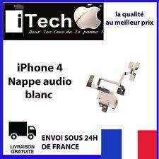 NAPPE PRISE JACK AUDIO + VOLUME + VIBREUR POUR IPHONE 4 BLANC