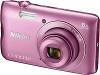 Nikon A300 Coolpix Digital Compact Camera - Pink