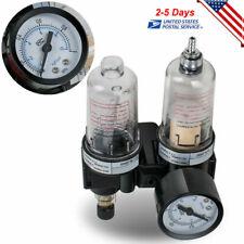 Us Ce Oil Water Separator Air Filter Regulator Moisture Trap Airbrush Compressor