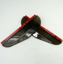 2 Black Rear View Side Mirror Flexible Sun Visor Shade Rain Shield Water Guard