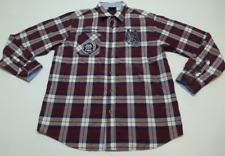 Mecca USA Mens Size XL Blue & Red Plaid Patch Shirt Good Condition