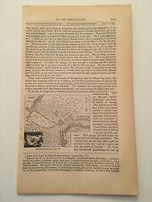 K41) Fort Schuyler & Vicinity Map New York American Revolution 1860 Engraving