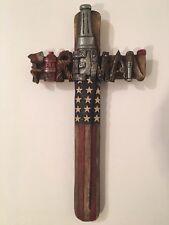 American Patriotic Fireman Wall Hanging Cross