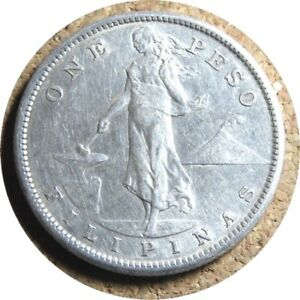 elf Philippines USA 1 Peso 1907 S  Silver  San Francisco Mint  8