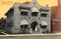 Postcard Receiving Hospital in Stockton, California~115660