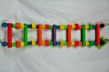 "Happy Beaks Bird Cage Wooden Ladder Perch Multicolored 32"" x 7"" A&E Cage Company"