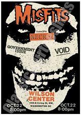 Misfits Vintage Concert Poster Wilson Center Washington DC 1982  Reproduction