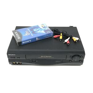 Sony SLV-N55 Hi-Fi Stereo VCR VHS Video Cassette Recorder No Remote - Works!!