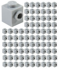 LEGO Lot of 8 Light Bluish Gray 2x2 Brick Pieces with Wheel Pin Hold