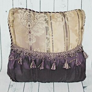 Chris Madden JCP Home JCPenney 16X16  Decor Bed Tasseled Throw Pillow Purple