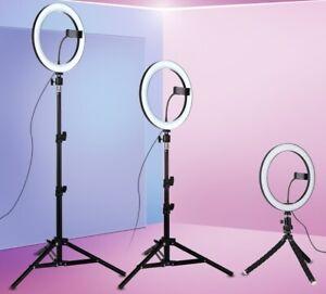 LED Ring Light Dimmable Lighting Kit Phone Selfie Tripod Makeup Youtube Live