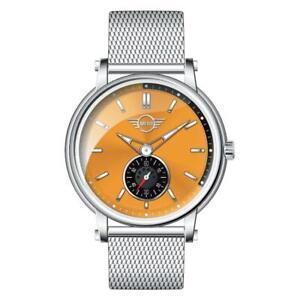Womens Wristwatch MINI MI-2316L/01M Stainless Steel Mesh Orange SWISS Movement