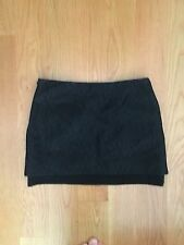 Diane von Furstenberg black mini, size 2, lace overlay