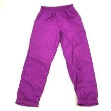 VINTAGE Track Pants Joggers Size Medium Warm Up Nylon Purple Monochromatic 1994
