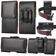 For Huawei P20 Pro Black Leather Tradesman Belt Clip Holster Case Cover Pouch