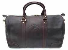 NEW Prime Hide Elpaso Stylish Leather Travel Holdall Overnight Bag Brown 734