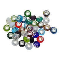 Pack von 25 Mixed Bunte Murano Glasperlen European Beads Fit Armband Charms