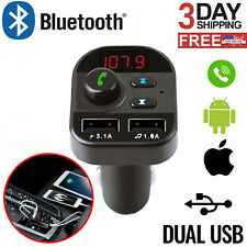 Bluetooth Car Wireless Adapter Fm Transmitter Mp3 Radio Car Kit 2 Usb Chargers