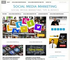 * SOCIAL MEDIA MARKETING * blog website business for sale w/ AUTO UPDATING