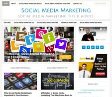 Social Media Marketing Blog Website Business For Sale With Auto Updating
