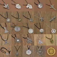 Men Gothic Viking Pendant Necklace Slavic Celtic Knot Chain Charm Jewelry Amulet