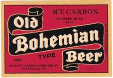 Old Bohemian Beer Irtp Label