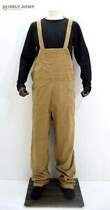 British Army Dungarees WW2 Land Army Bib & Brace Overall Khaki Military Uniform