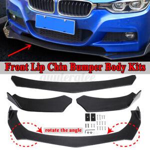 Carbon Fiber Look Front Bumper Body Protector Spoiler Splitter For Universal Car