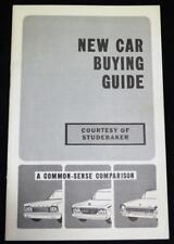 STUDEBAKER AUTOMOBILE ADVERTISING NEW CAR BUYING GUIDE BROCHURE 1965 VINTAGE