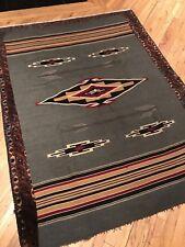 "Vintage Vtg 1940s 1950s 50s Southwestern Chimayo Rug Weaving 73"" x 50�"