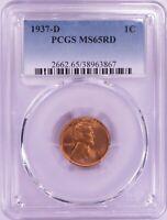 1937-D Lincoln Wheat Cent PCGS MS65RD ET1861C/BS