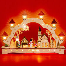 SIKORA LB62 LED Wooden Christmas Illumination Arch Winter Village Xmas Decor