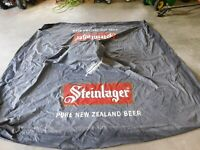 VINTAGE 9' X 9' STEINLAGER PURE NEW ZEALAND BEER NYLON TENT