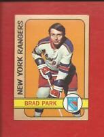 1972-73  TOPPS  # 30  BRAD PARK   HOF   New York Rangers   Nr.Mt.-Mt
