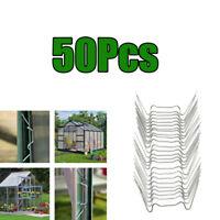 50x Edelstahl Federklammern Glasklemmen Klammern Clips für Gewächshaus
