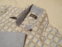 """TED BAKER Mens Shirt🌍 Size 2 (40"""" CHEST) 🌎 RRP £80+ 🌏 TEXTURED CHECK STYLE"""