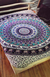 Indian Elephant Mandala Tapestry Queen Wall Hanging Hippie Tapestries Bedspread